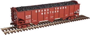 "Atlas O 2001817 - Trainman - AAR 70 Ton 3-Bay Open Hopper ""Grand Trunk Western"""