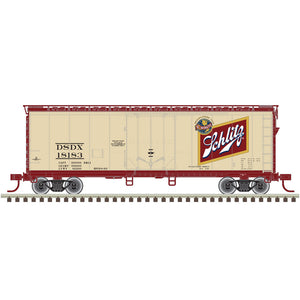 "Atlas O 2002362 - Trainman - 40' Plug Door Box Car ""Schlitz"" 2-Rail"
