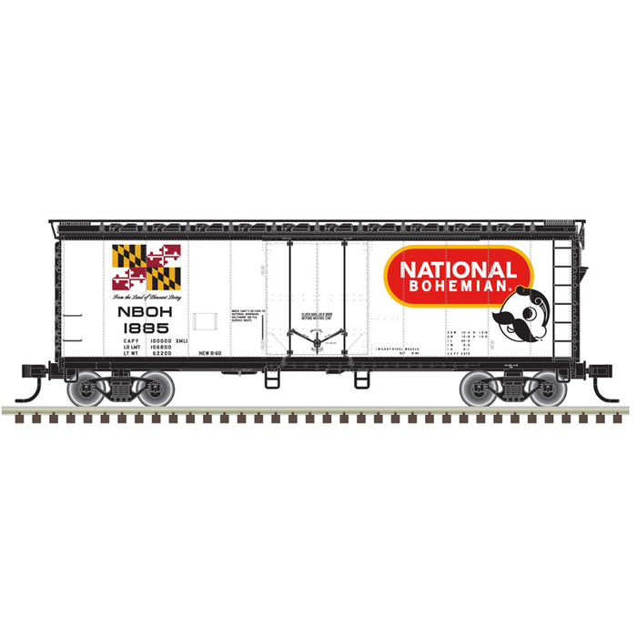 "Atlas O 2002366 - Trainman - 40' Plug Door Box Car ""National Bohemian"" 2-Rail"