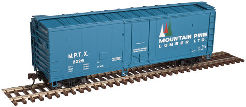 AO-2002309 Atlas O Trainman 40' Plug Door Box Car - Mountain Pine Lumber - 3 Rail