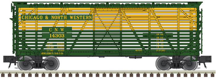 "Atlas O 2002404 - Trainman - 40' Stock Cars ""Chicago & North Western"""