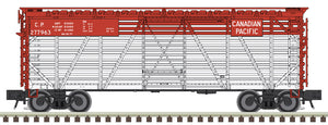 "Atlas O 2002458 - Trainman - 40' Stock Cars ""Canadian Pacific"" - 2 Rail"