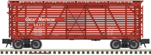 "Atlas O 2002459 - Trainman - 40' Stock Cars ""Great Northern"" - 2 Rail"