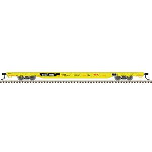 "Atlas O 2002624 - Trainman - 68' Flat Car - ""TTX Forward Thinking"" - 11/20 Announcement"