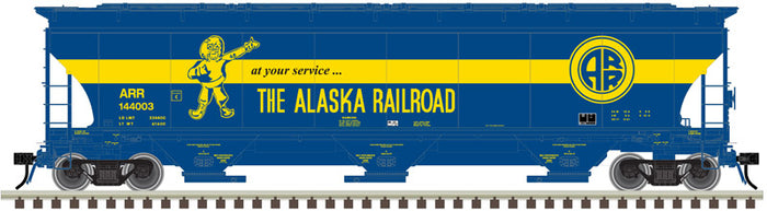"Atlas O 3002134 - Trinity 5161 cu. ft. Covered Hoppers ""Alaska Railroad"" - 2 Rail"