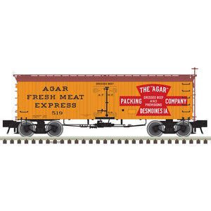 "Atlas O 3001428 - Master 36' Wood Reefer ""Agar Packing Company"""