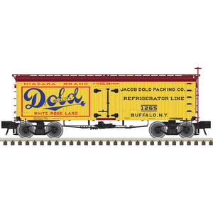 "Atlas O 3001429 - Master 36' Wood Reefer ""Dold Packing Company"""