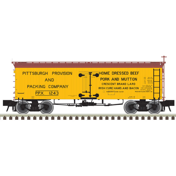 "Atlas O 3002433 - Master 36' Wood Reefer ""Pittsburgh Provision and Packing"" - 2 Rail"