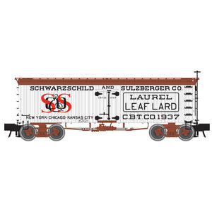 "Atlas O 3001435 - Master 36' Wood Reefer ""Schwarzschild & Sutzberger Lard"""