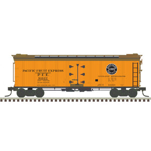 "Atlas O 3002531 - 40' Re-Built Wood Reefer Car ""Pacific Fruit Express"" - 2 Rail - 11/2020 Announcement"