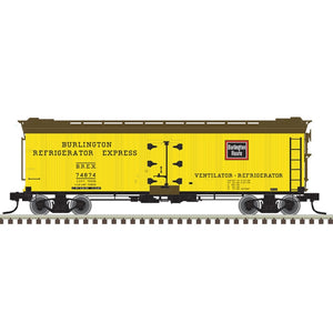 "Atlas O 3001573 - 40' Re-Built Wood Reefer Car ""Burlington"" - 11/2020 Announcement"