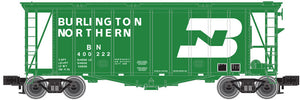 "Atlas O 3002045 - 40' GATX Airslide Hopper ""Burlington Northern"" (2-Rail) - New Road Numbers"
