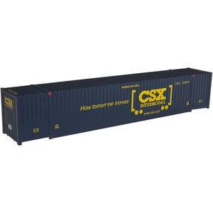 "Atlas O 3006310 - Jindo 53' Container ""CSX"" (How Tomorrow Moves) New Road Number for 2018"
