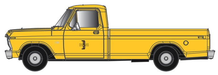 Atlas O 3009941 - Ford F100 - 1/48th Scale - Boston & Maine (Yellow)
