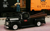 "1948 Ford F1 Pickup ""Lehigh Valley Railroad"" (Black) 1/43 Diecast Car by Railyard Truck Series"