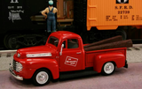 "1948 Ford F1 Pickup ""Milwaukee Road"" (Red) 1/43 Diecast Car by Railyard Truck Series"