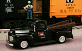 "1948 Ford F1 Pickup ""Wabash M.O.W. Dept."" (Black) 1/43 Diecast Car by Railyard Truck Series"