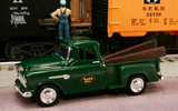 "1955 Chevy Pickup ""Reading Lines Railroad"" (Green) 1/43 Diecast Car by Railyard Truck Series"