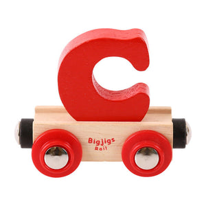 BigJigs BR103 - Rail Name Letter C (Colors Vary)
