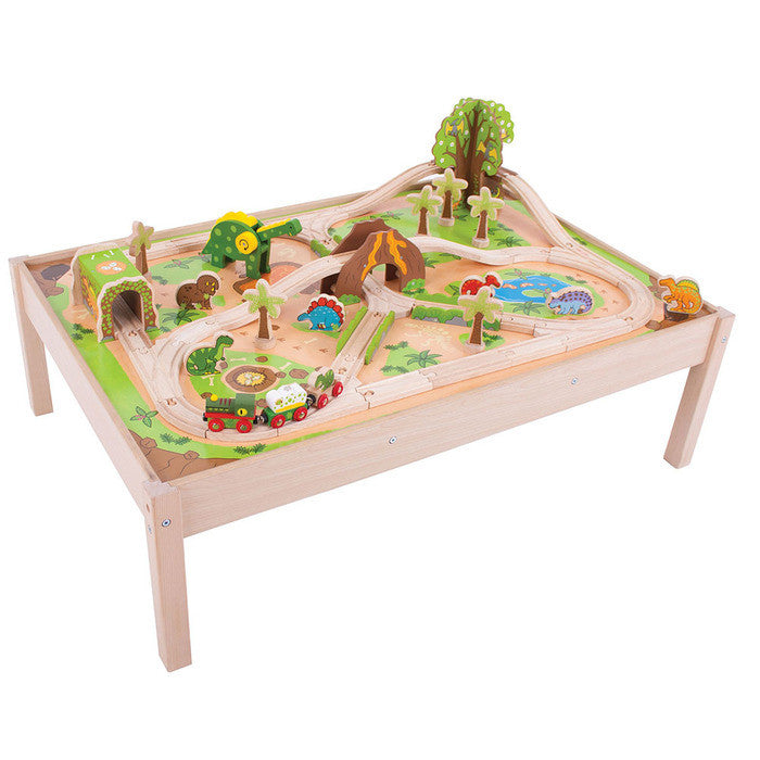 BigJigs BJT048 - Dinosaur Railway Train Set and Table