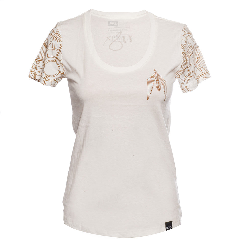 Women's Gold Sleeve T-Shirt