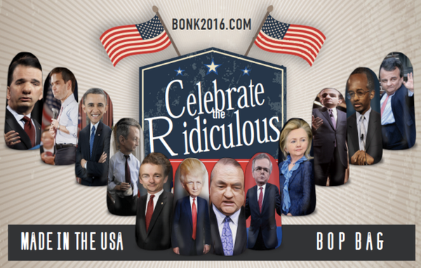 Celebrate the Ridiculous with Bonk Yourself Political Punching Bags