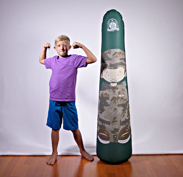 Inflatable Punching Bag Kids Gift Ethan Soldier Toy