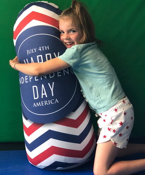 Inflatable Punching Bag Kids Gift for Independence Day