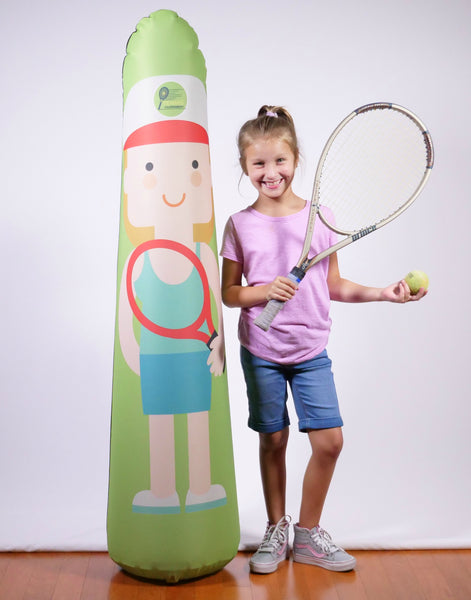 Inflatable Punching Bag Personalized Kids Tennis Trainer Portable Pop Up