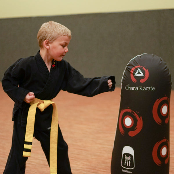 Virtual Karate Class with Pop Up Inflatables