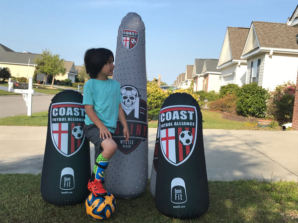 Inflatable Punching Bag Custom Kids Soccer Trainer Portable Pop Up