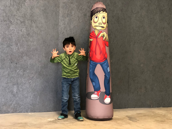 Inflatable Punching Bag Kids Gift Zombie Toy Green Monster Boy