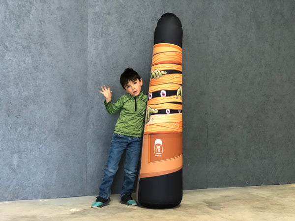 Inflatable Punching Bag Kids Gift Zombie Toy Business Boy