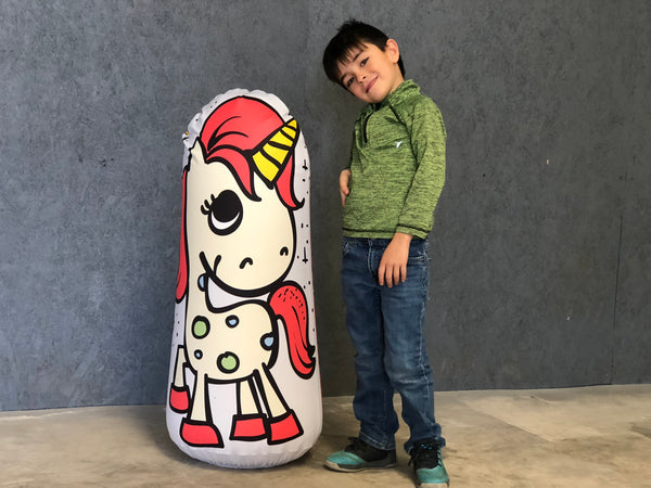 Inflatable Punching Bag Kids Gift Unicorn Toy Zen Wellness
