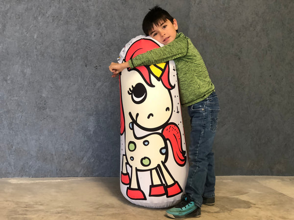 Inflatable Punching Bag Kids Gift Unicorn Toy Serenity Now