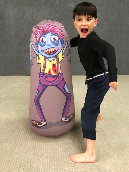 Inflatable Punching Bag Kids Gift Zombie Toy Crazy Boy