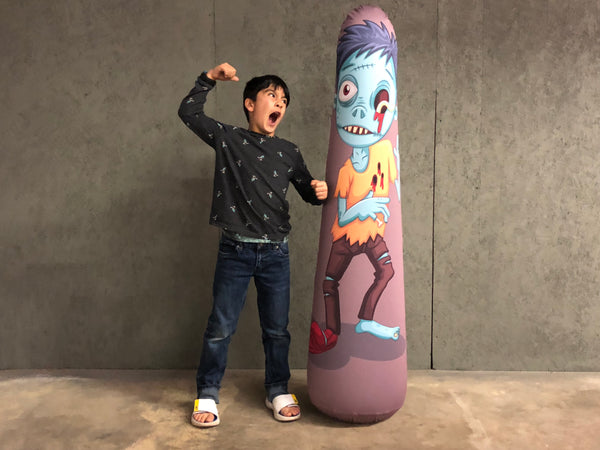 Inflatable Punching Bag Kids Gift Zombie Toy Worm Boy