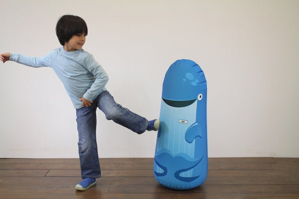 Inflatable Punching Bag Kids Gift Noah Whale Toy