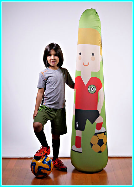 Inflatable Punching Bag Personalized Kids Soccer Trainer Portable Pop Up