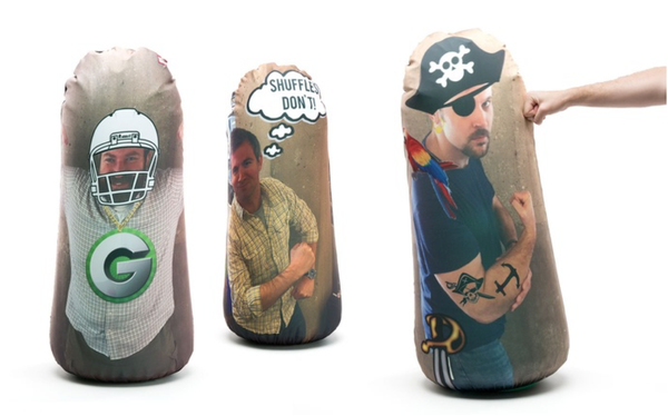 Pandemic Punching Bag Custom Inflatable Gag Gift From Any Photo