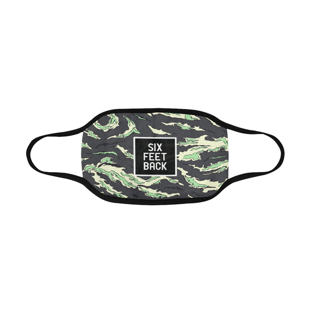 PMH Six Feet Back Face Mask Tiger Camo (2 Carbon Filters Included) - Place Money Here