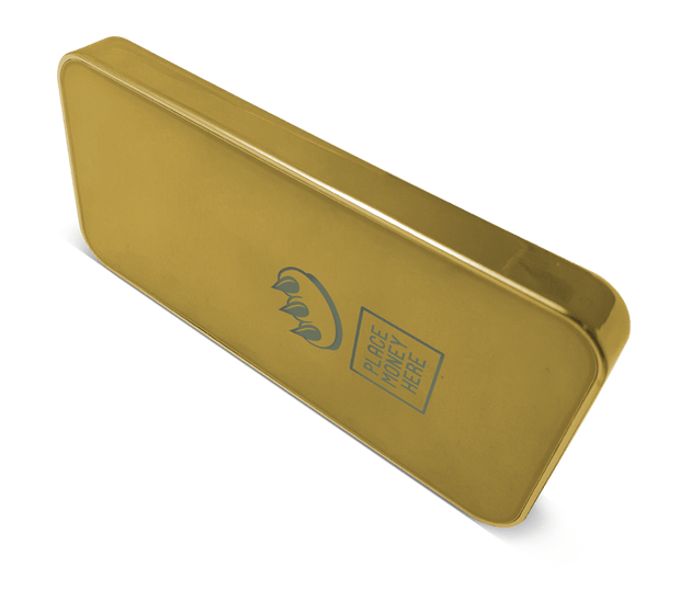 ClawMoneyHere Gold Bar Power Bank - Place Money Here