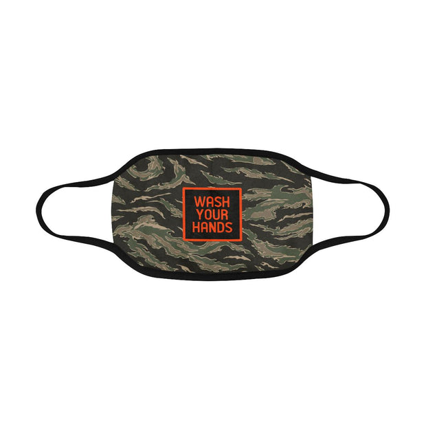 PMH Wash Your Hands Face Mask Tiger Camo (2 Carbon Filters Included) - Place Money Here