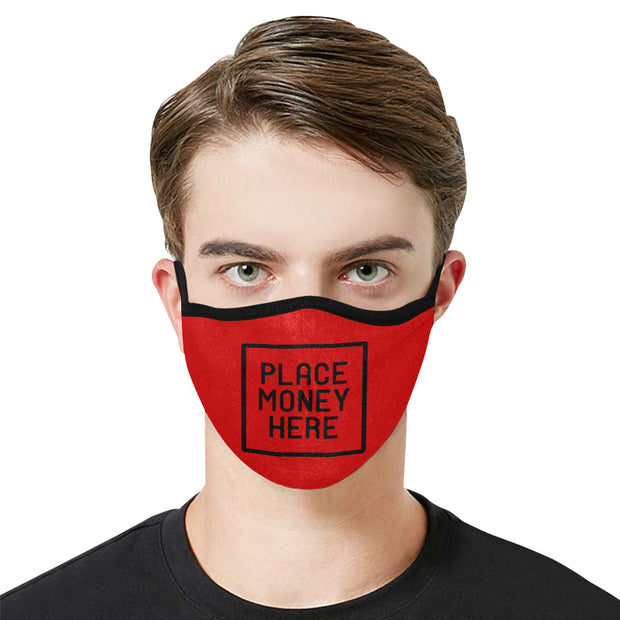 PMH Logo Face Mask Red (2 Carbon Filters Included) - Place Money Here