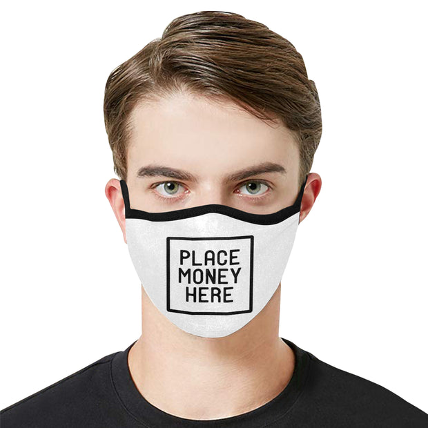 PMH Logo Face Mask White (2 Carbon Filters Included) - Place Money Here