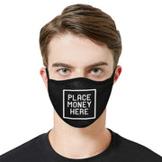 PMH Logo Face Mask Black (2 Carbon Filters Included) - Place Money Here