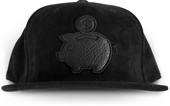 PMH SUEDE BANK CAP - Place Money Here