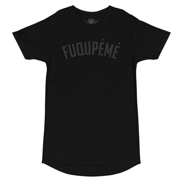 Fuqupémé Black on Black Long Short Sleeve Tee - Place Money Here