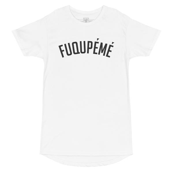 Fuqupémé Black on White Long Short Sleeve Tee - Place Money Here