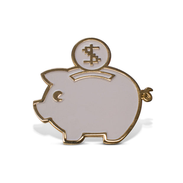 PlaceMoneyHere™ Glow in the Dark Piggy Bank Pin - Place Money Here